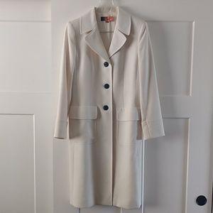 Vintage cream coat - size 8